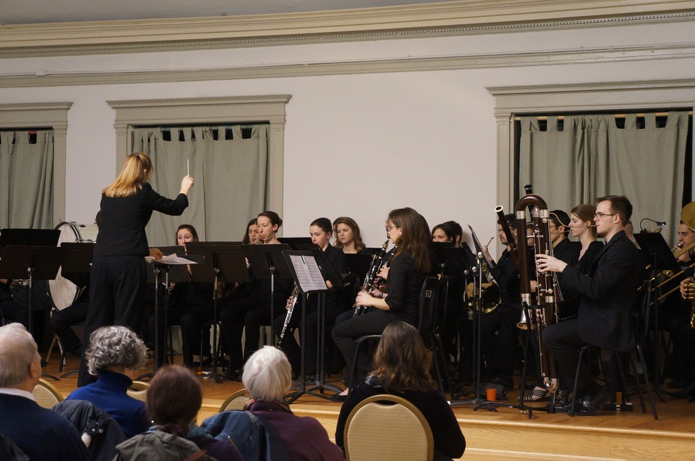 Concert photo of CSW Musicians at the February 2016 performance of Symphonic Music for the Wind Ensemble.