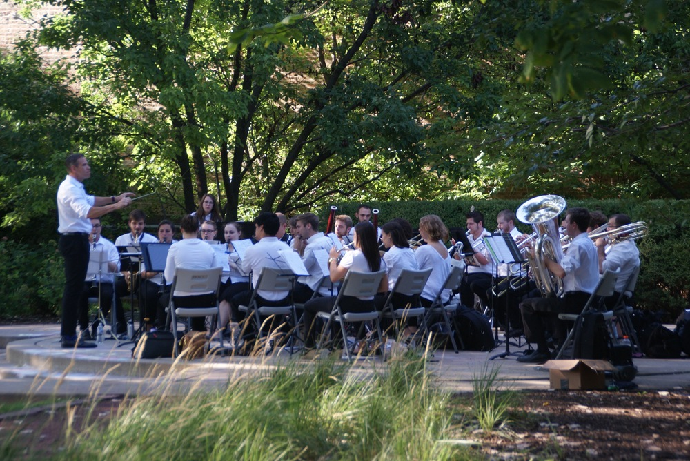 CSW performing at Women's Park in the South Loop neighborhood as part of the Chicago Park District's Night Out in the Parks series.