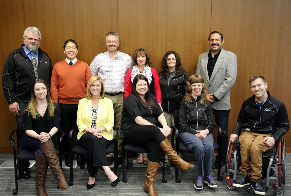 Measuring Up Committee Members  (Left to Right – Top Row): Ron Bergen, Ken Inaba, Nate Toevs, Janice Huber,Kimberly Ranger Wood, Tariq Mehboob  (Left to Right – Bottom Row): Kerri Christensen, Kim Rose, Tara Roberts, Glenda Watson-Hyatt, Marco Pasqua   Absent:  Stan Leyenhorst, Coreen Windbiel, Pete Hohmann