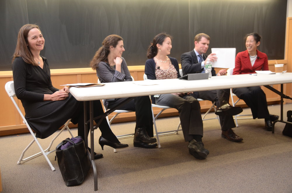 Me on a panel about narrative medicine, during school. Photo Credit: John Curtis