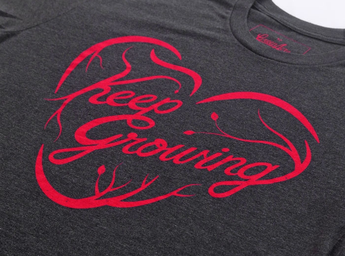 "Our ""Keep Growing"" design from the Summer 2016 collection."