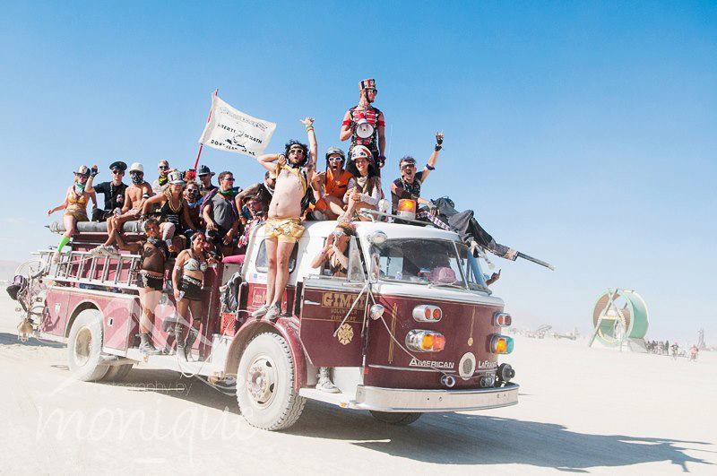 M4 on Ol' Bitch at Burning Man