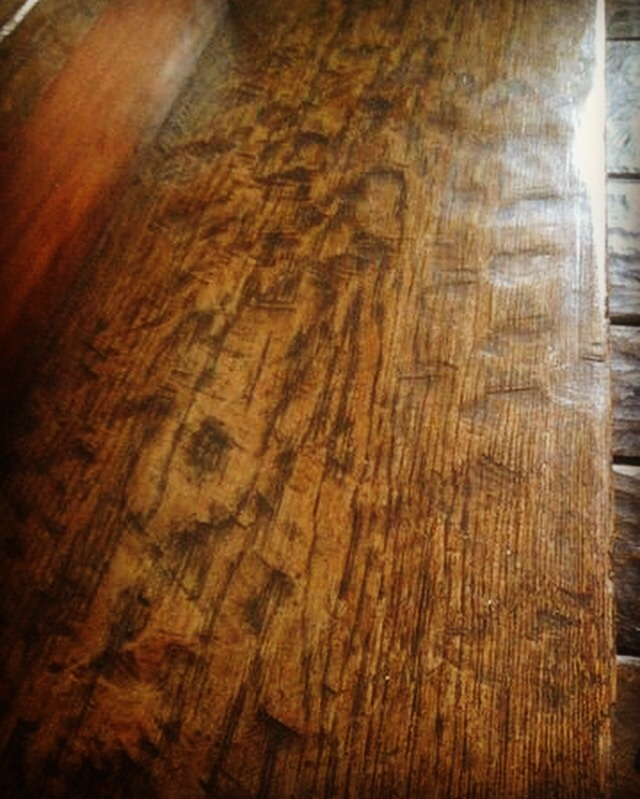 Heavily Distressed Solid Red Oak