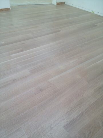 White Wash Finished White Oak Installation