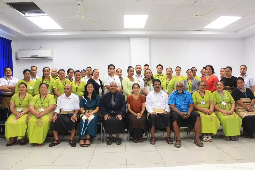 The participants of the Tonga Office of the Auditor-General Communications workshop, Nuku'alofa, Tonga.