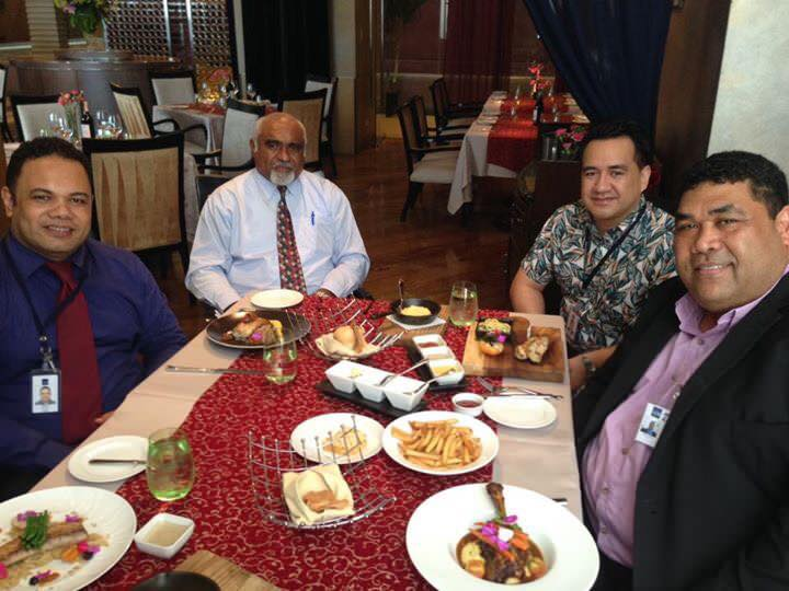 PASAI Chief Executive and PASAI Advocate hosted for lunch by Mr Viliami Sefesi, Financial Control Specialist at ADB and Mr Oscar Malielegaoi, Adviser to ADB Executive Director for countries covering Cook Islands, Fiji, New Zealand, Samoa and Tonga.