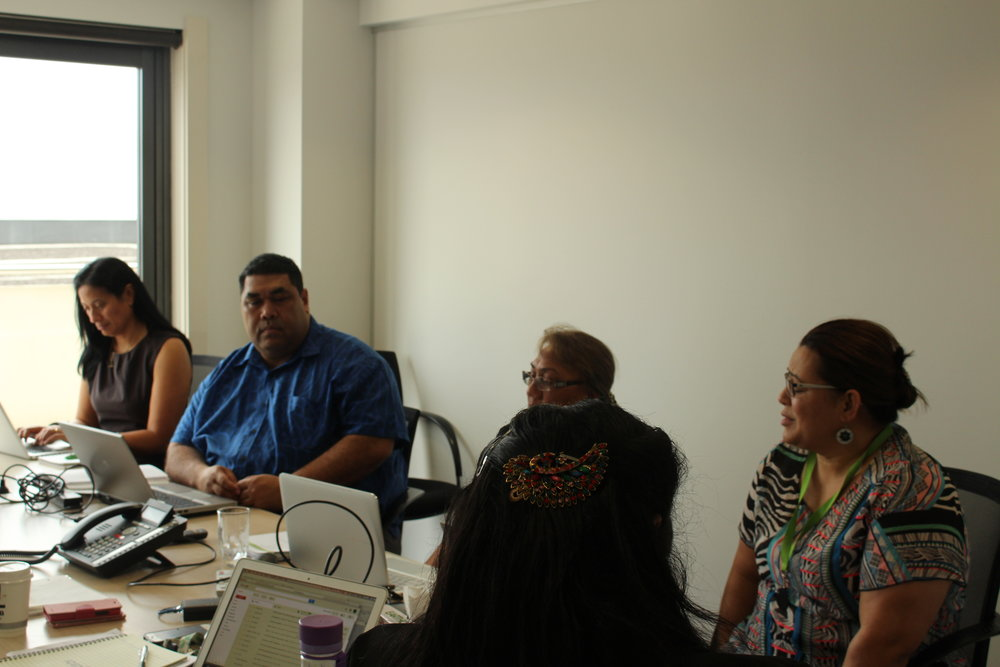 Team discussions taking place in the PASAI Secretariat conference/board room.