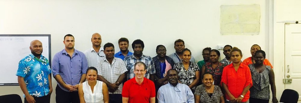 Assessment of the Solomon Islands Office of the Auditor-Genera - The Assessment team with the Auditor General and staffs of SIOAG