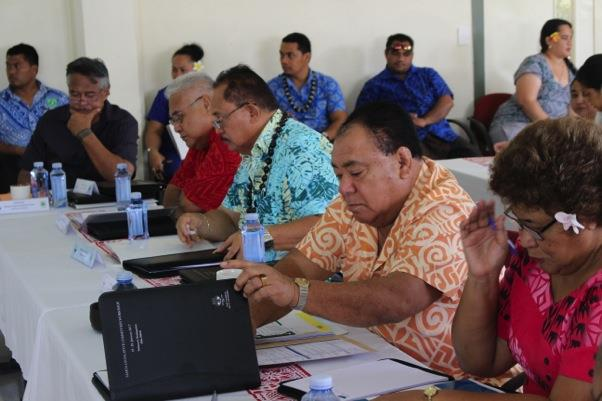 Workshop Participants from Parliamentary Committee members of Samoa