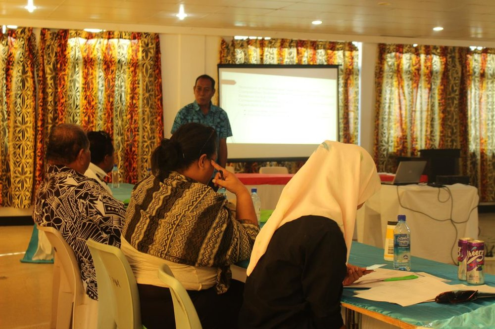 Photo above: Auditor-General of Tuvalu, Mr Eli Lopati, addressing the participants from audit entities