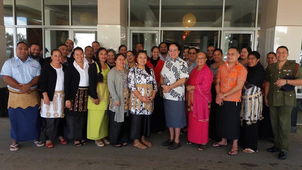 Photo: Workshop facilitators and participants.