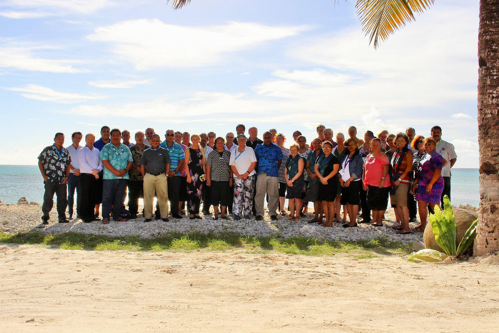 Delegates of the 20th Congress in Funafuti, Tuvalu.