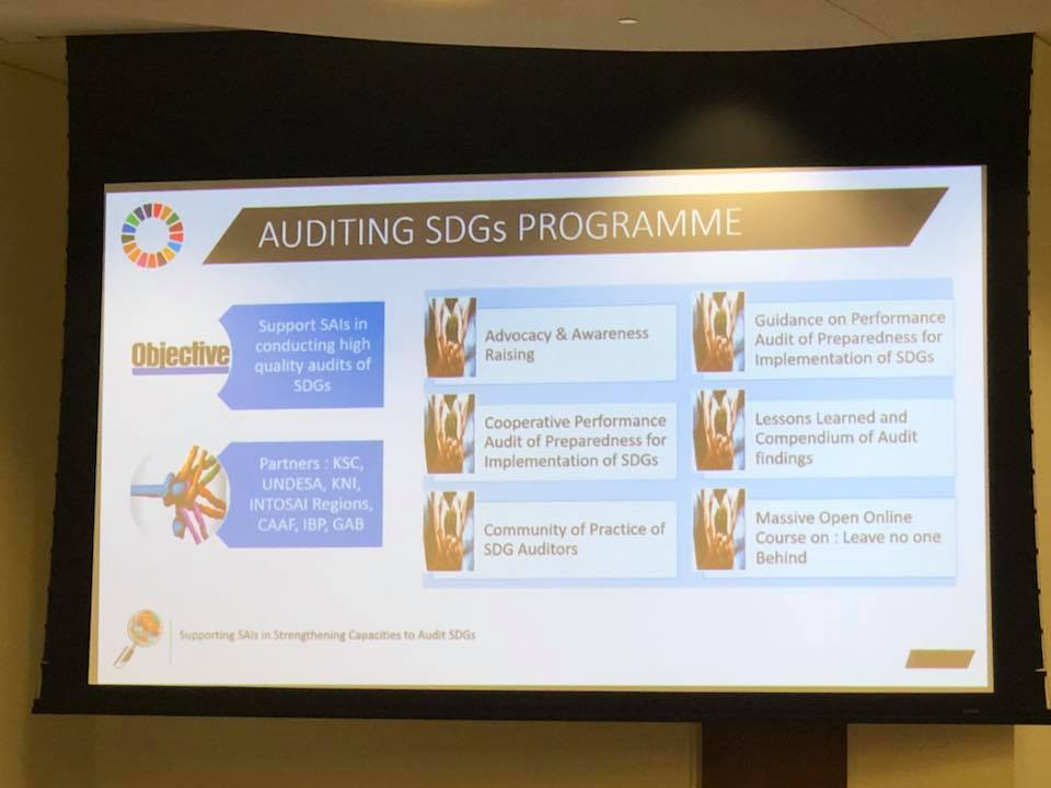 UN/IDI on supporting SAIs to strengthen capacities for auditing SDGs
