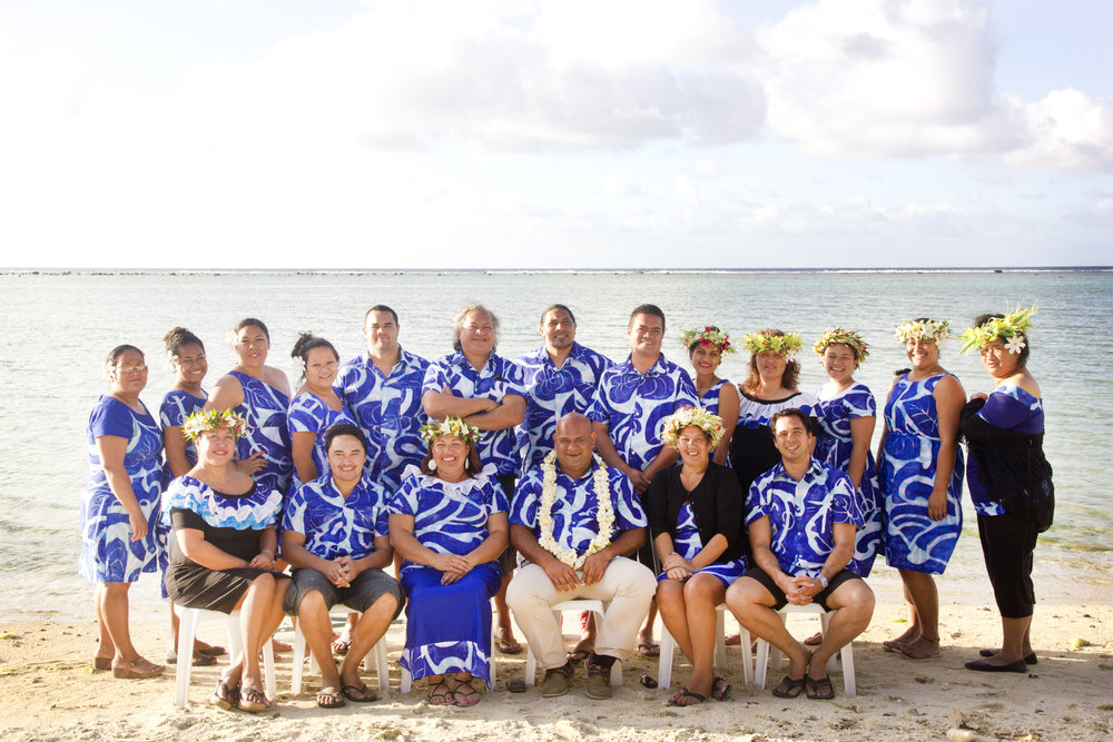 Allen with the Cook Islands Audit Office team
