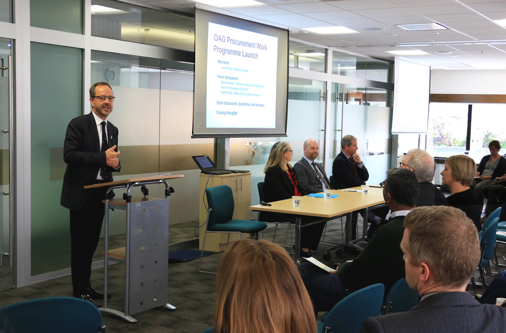 Launching NZ OAG's Procurement Programme