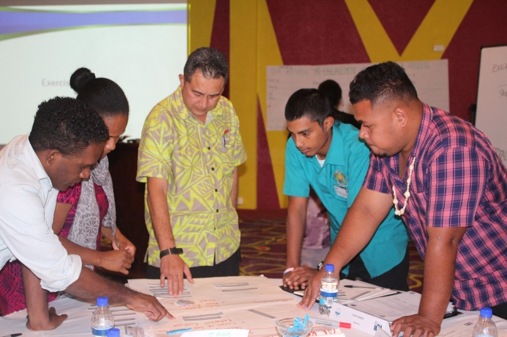 Participants from Solomon Islands, Vanuatu, Samoa, Nauru and Tuvalu