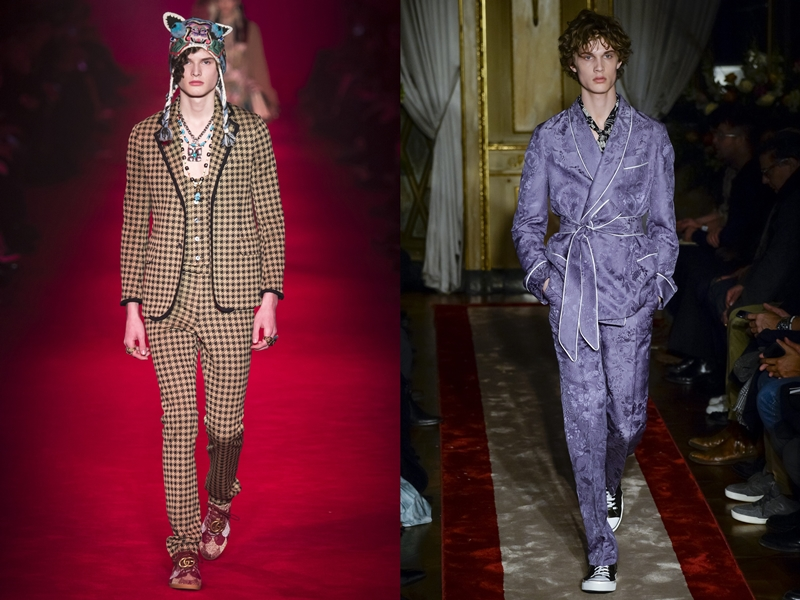 Gucci (left), Roberto Cavalli (right)