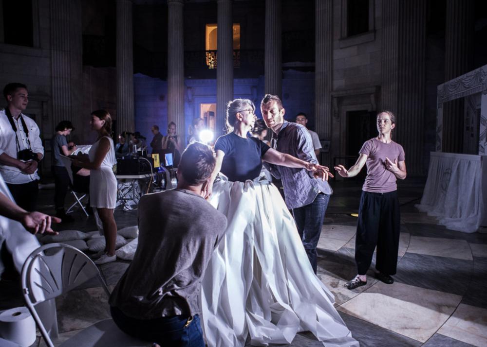 Yanira Castro Court/Garden Performance work 2015 Federal Hall, Lower Manhattan Cultural Council's River To River Festival photo by Maria Baranova photo