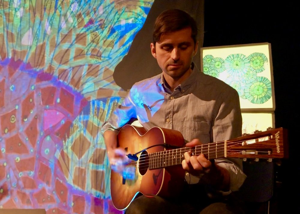 """Kyle Sanna & Dana Lyn, """"The Coral Suite"""" performance at the Irish Arts Center, NYC, 2019."""