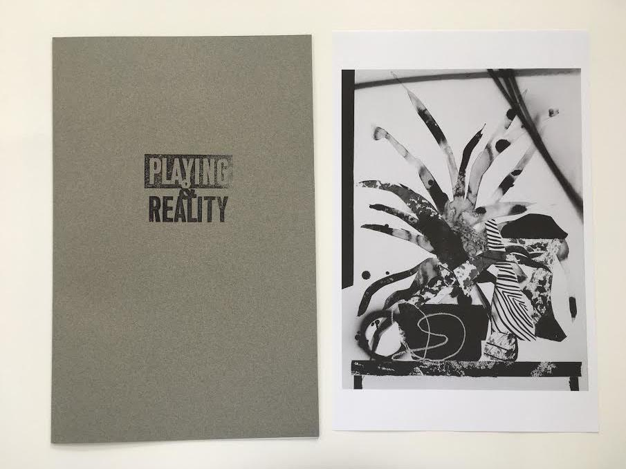 Playing & Reality, a limited-edition print set featuring hybrid-text by Leigh Gallagher and paintings by Paul Wackers. Inspired by D.W. Winnicott's book of the same name.