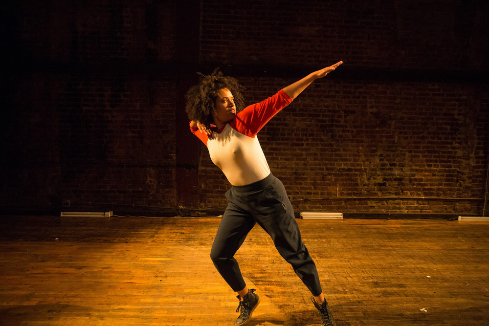 Leslie Cuyjet, A Salient Theme (2017), at La MaMa for LaMaMa Moves! Festival. Image by Scott Shaw. Originally premiered in 2016 at Center for Performance Research.