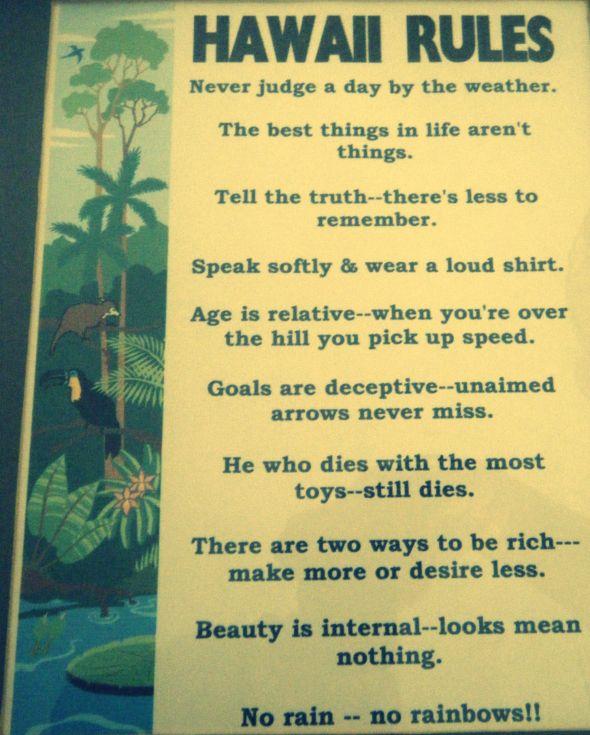 hawaii rules