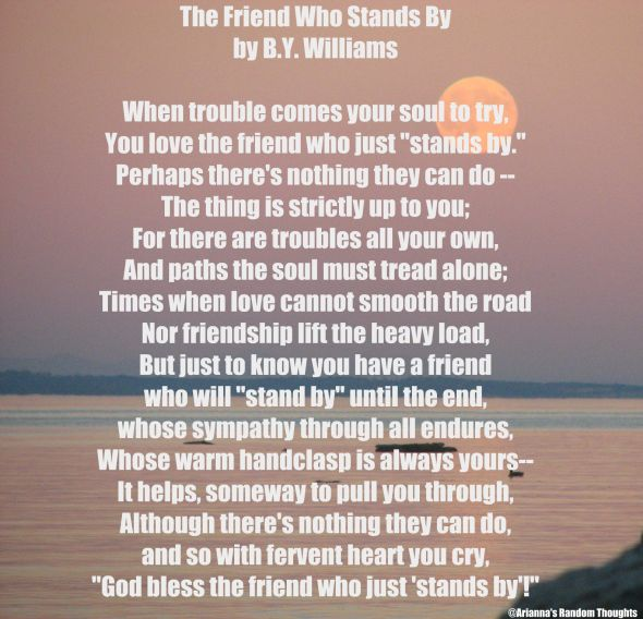 Friend who stands by