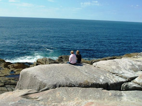 Air and Liv at Peggy's Cove
