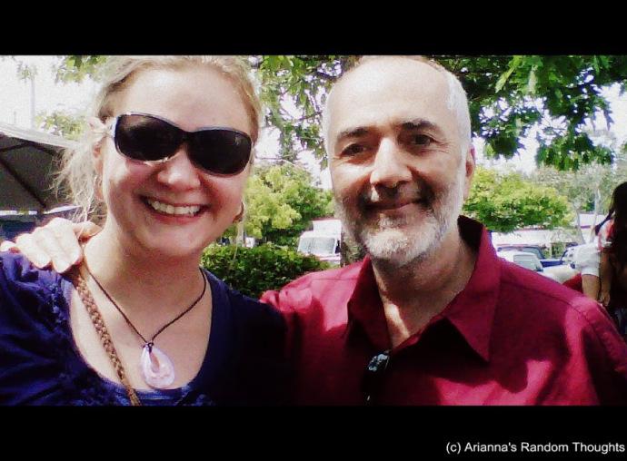 Raffi and I. Salt Spring Island, BC.  June 2013.