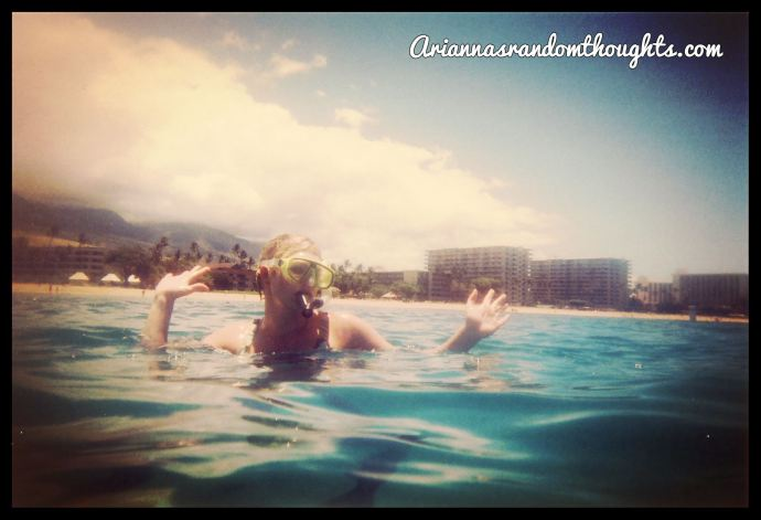 Maui, snorkelling, swimming, Arianna's Random Thoughts