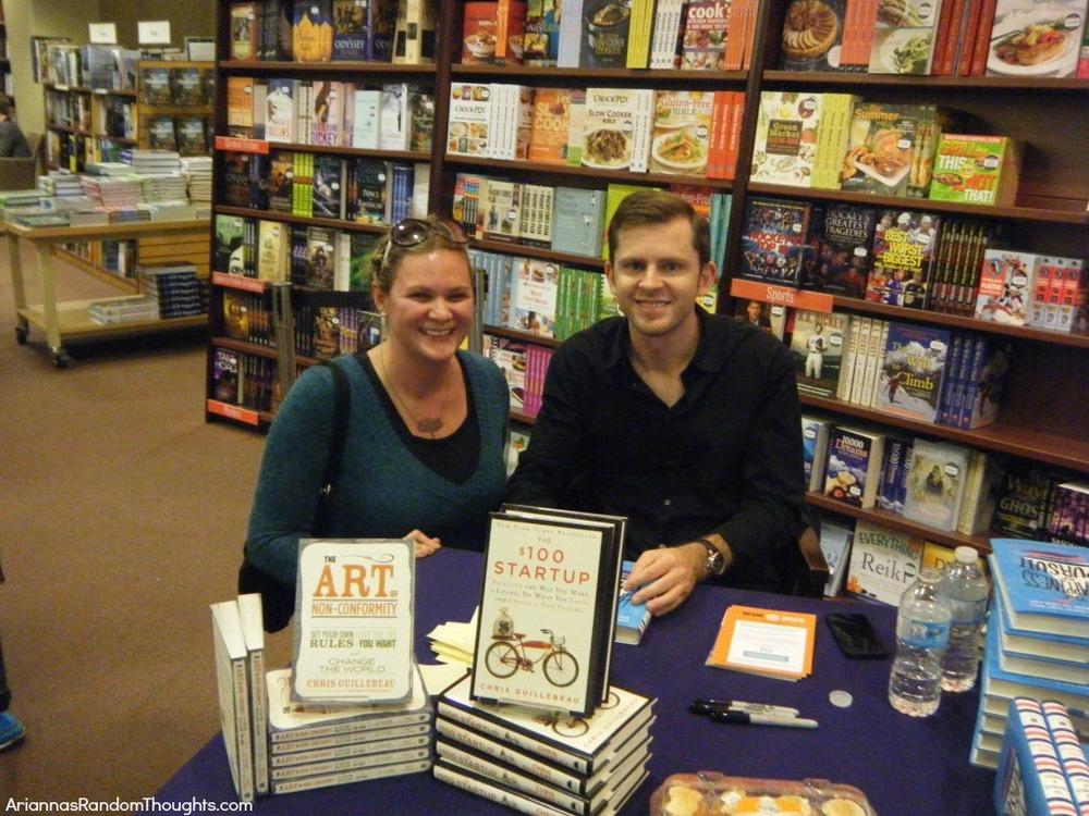 Chris and I at his book signing.