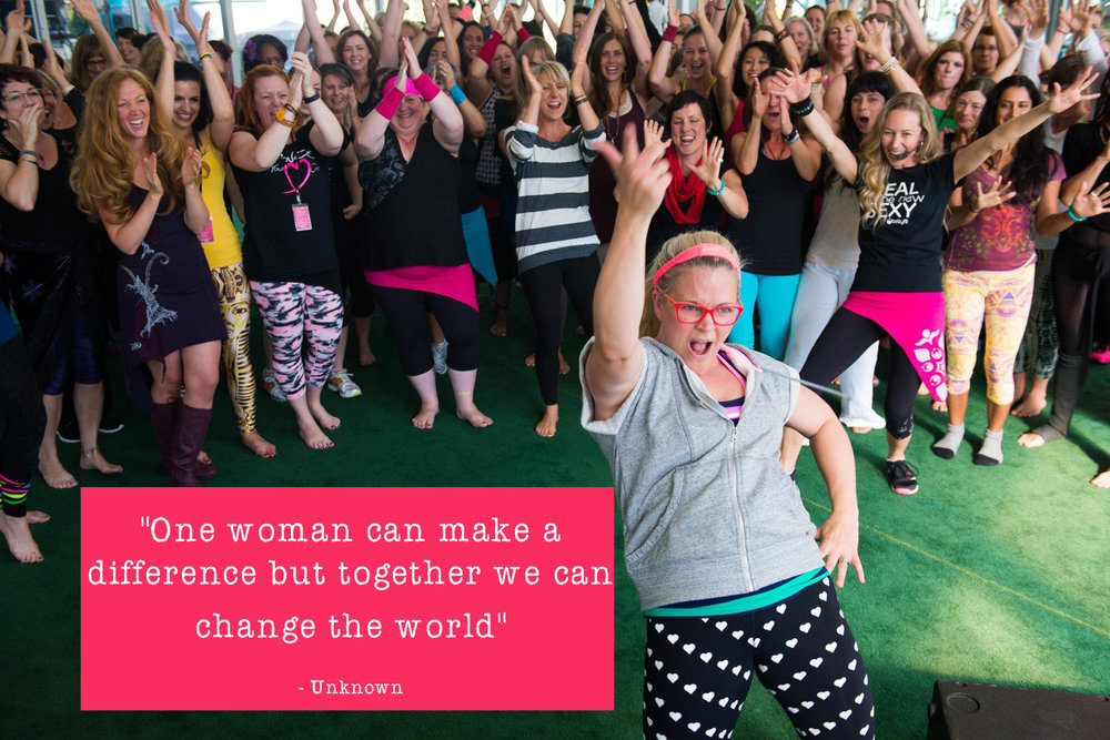 (c) Body Image Movement. Used with permission. Picture taken at BellyFit Summit 2014 when I first attended - Taryn in front and Alice is behind her in the black and pink.