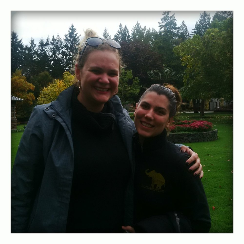 Meeting Kristin at The Butchart Gardens in Victoria, BC. in October 2015.
