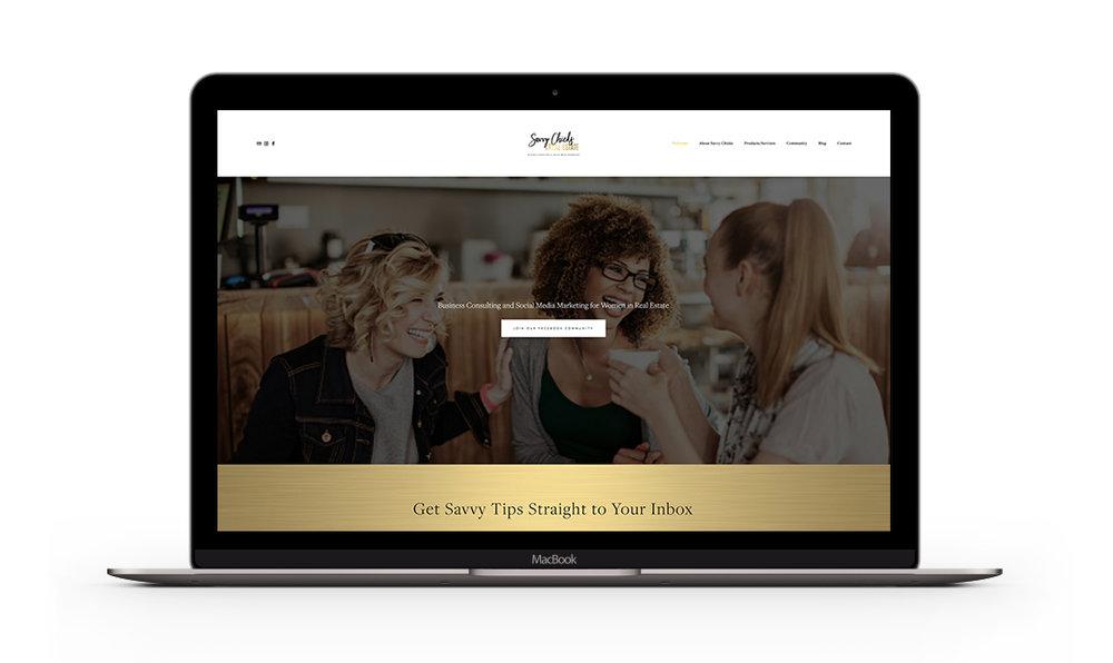 Savvy AgentscChicks in Real Estate - Website Design