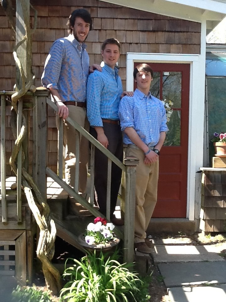 The Gingham Brothers unveil their newest line of brewing uniforms. One of them didn't get the memo for light khakis.
