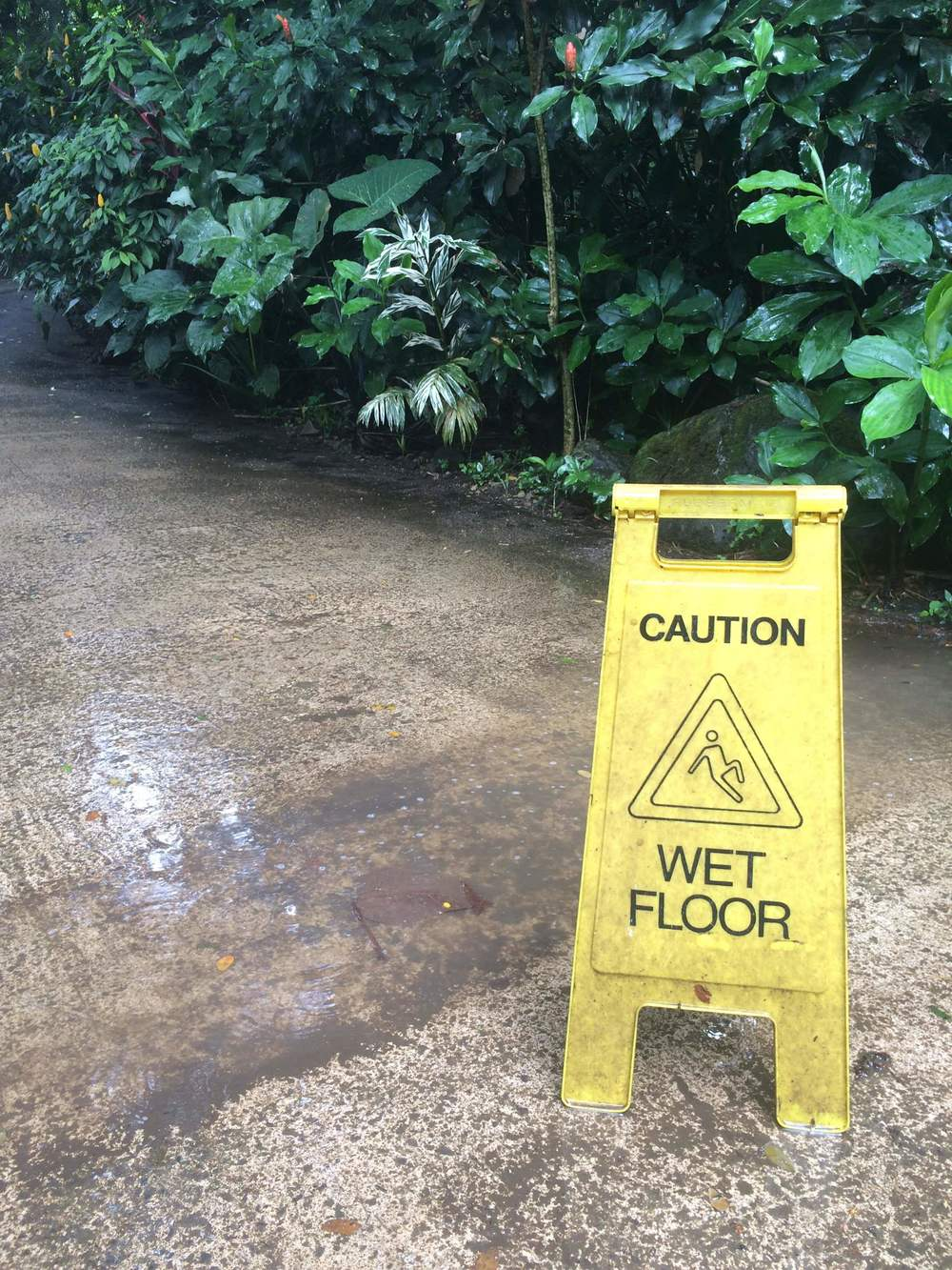 You know you're in for a tough hike when they warn you about the slipper concrete.