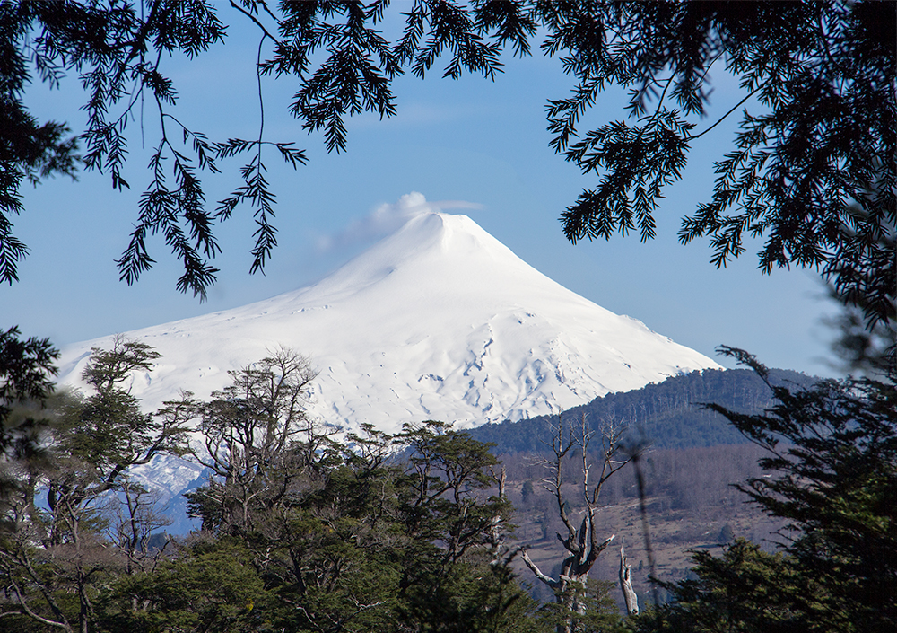 Volcán Villarica, as seen from Parque Nacional Huerquehue