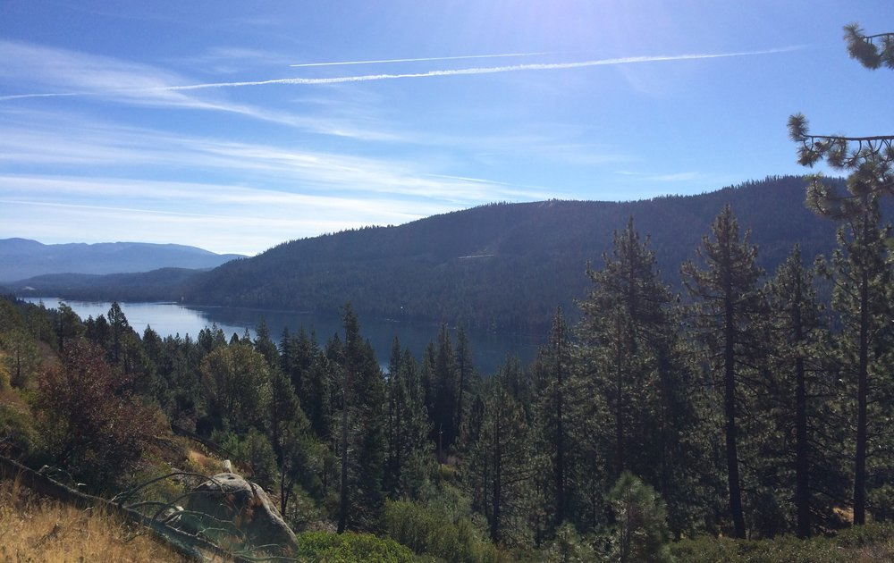 Donner Lake, right before the CA/NV border