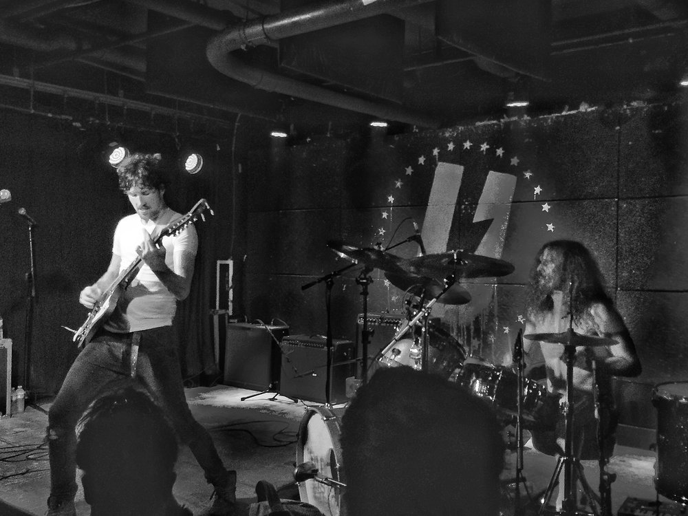 Still recovering from the facial trauma suffered at the Black Pistol Fire Concert back in June.