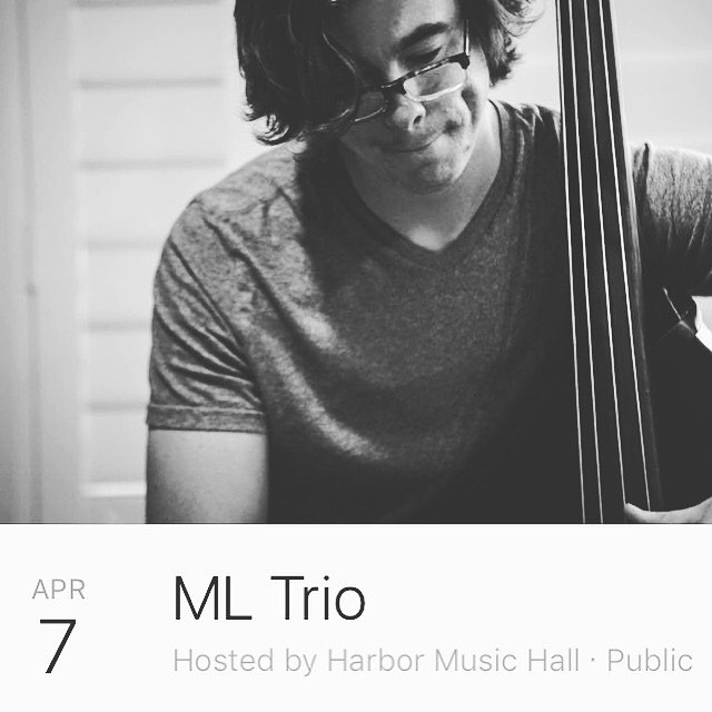 Tonight at Harbor Music Hall  ML Trio  7:30 to 10:30pm  @harbormusichall  ML trio repertoire includes original music, classic jazz tunes, and a few unconventional covers.  Don't miss this great show  #jazz #jazzy #jazz🎷 #jazzday #jazzmaster #jazzitup #jazznight #jazzvenue #music #musician #musicshow #musicvenue #littleitalysd #littleitalysandiego #sandiego #sandiego_ca #sandiegoeats #sandiegogram #sandiegoevents #sandiegomusic #gaslampsandiego #southparksd #hillcrest #northparksd