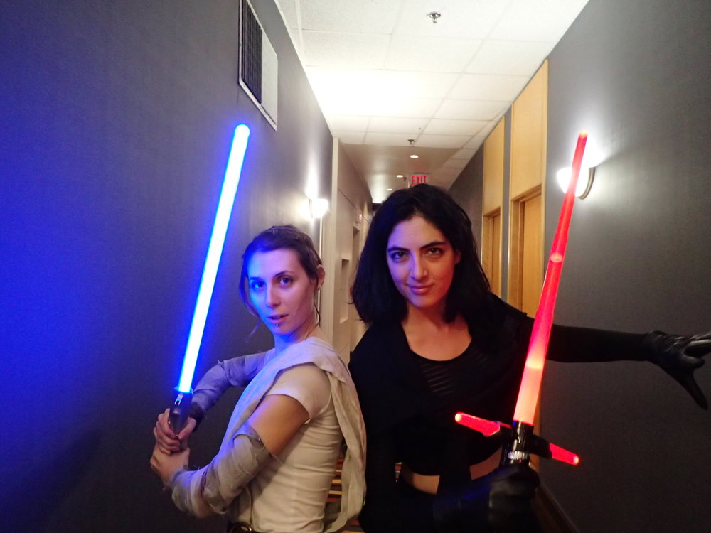 Rey and Kylo prepare to face hordes at FanExpo