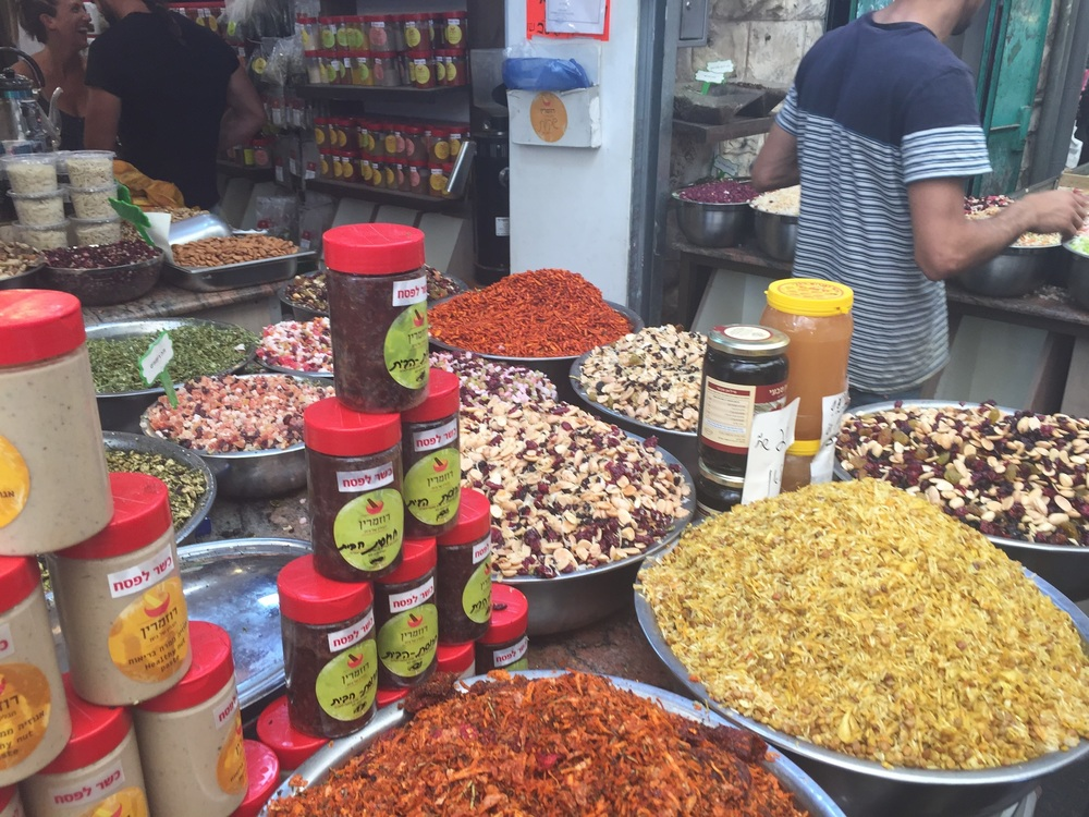 Teas & spices at the shuk