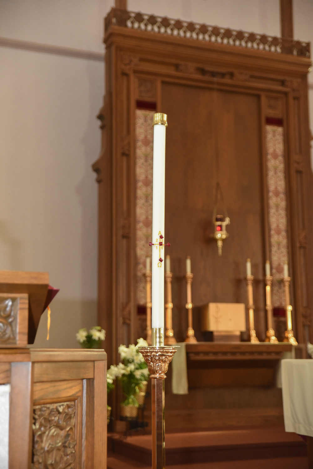 Baptism st josephs church candles these symbolize christ the light of the world the baptismal candle is lit from the paschal candle which stands near the altar at easter as sign biocorpaavc Choice Image