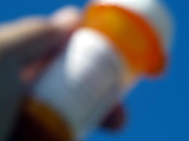 Blurry Prescription Bottle