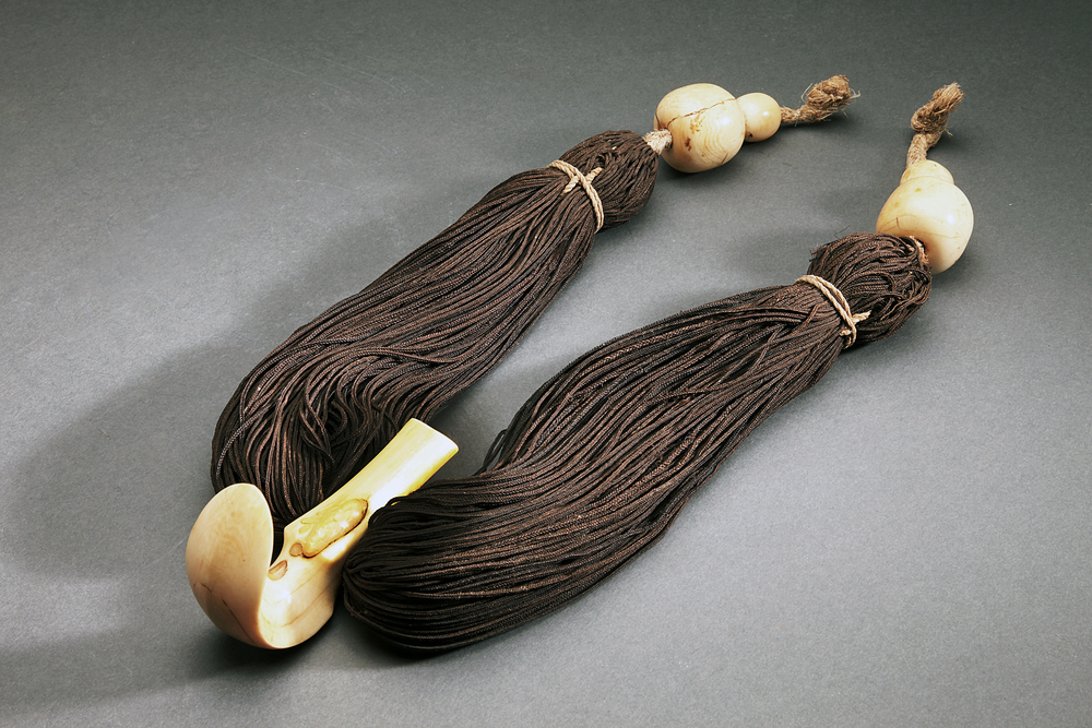 Important, Possibly Unique Ca. 1800  Hawaiian Hair Necklace, With Provenance