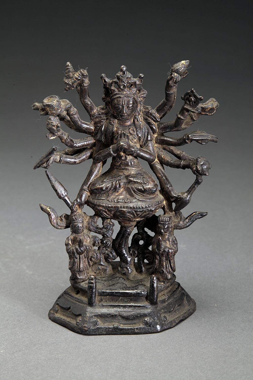 Ming Dynasty 18 Arm Bronze Bodhisattva