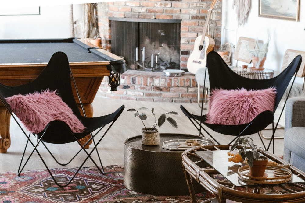 Ike and Tina - (2) Vintage butterfly chairs