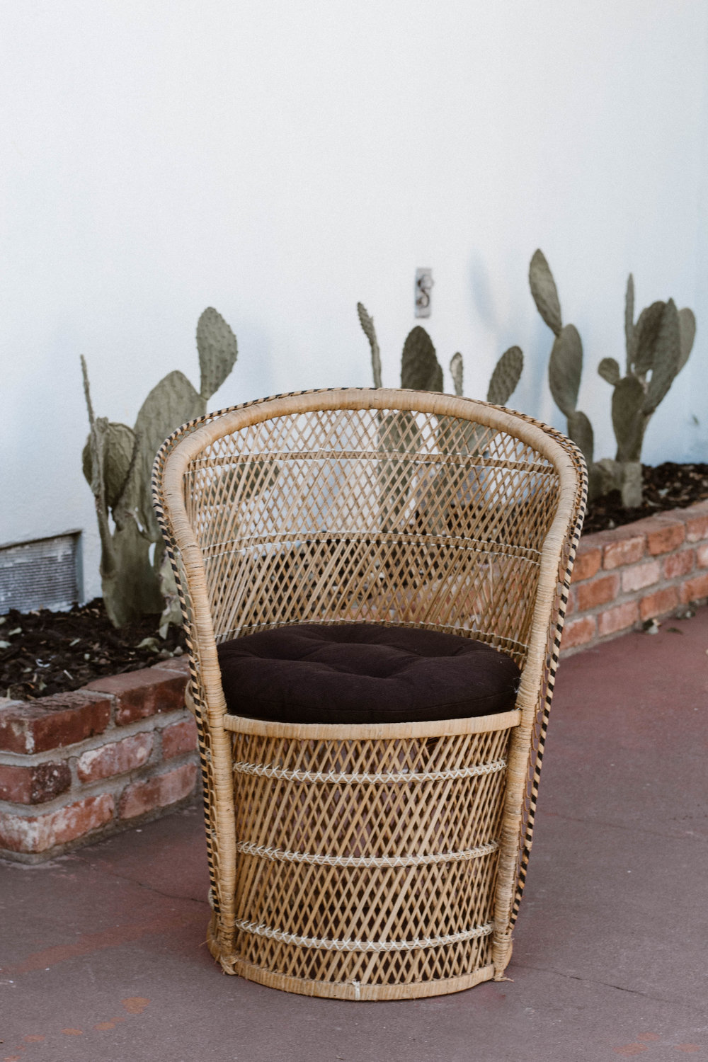 Marky Mark - (1) Natural color wicker barrel chair