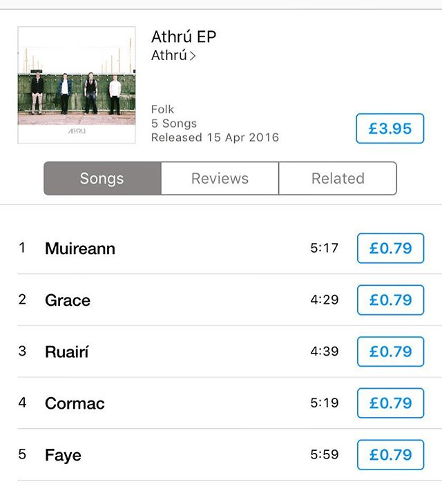 Well this is scary! You can now buy our debut EP on iTunes! Share the word!