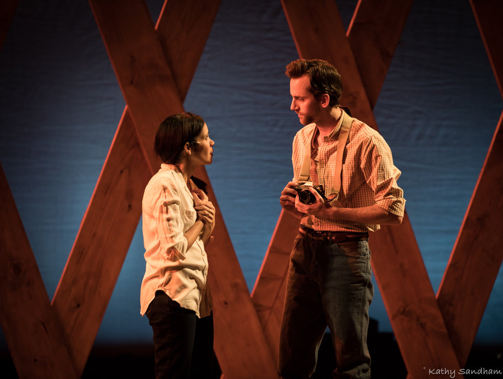 Shane Patrick O'Neill as Robert and Trinidad Snider as Francessca in Lakeland Civic Theatre's 2017 production of The Bridges of Madison County.